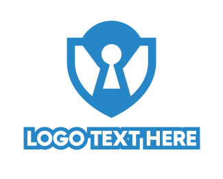 Encryption - Blue Lock Shield  logo design