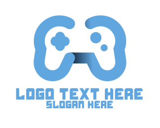 Light Blue - Modern Blue Controller logo design