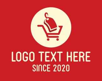 Stub - Red Grocery Price Tag logo design