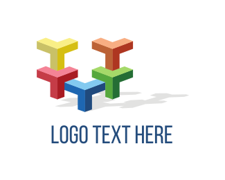 Company - Colorful Blocks logo design