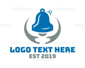 Bell - Blue Grey Bell logo design