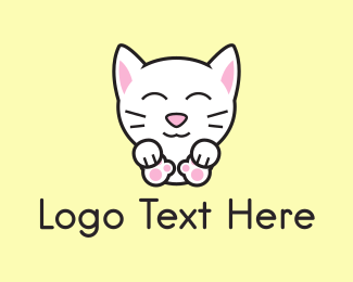 Japanese Restaurant - Kitten logo design