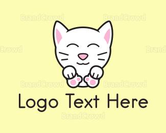 Adorable - Kitten logo design
