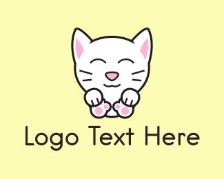 Friendly - Kitten logo design