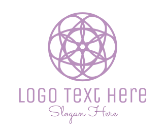 Wreath - Circle Flower logo design
