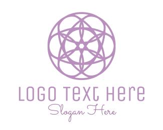 Purple Circle - Circle Flower logo design