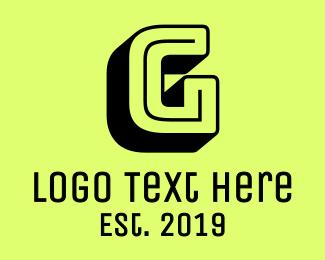 80s - Arcade Letter G logo design