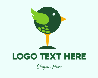 Cute Golf Bird Logo