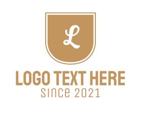Text - Golden Letter Emblem logo design