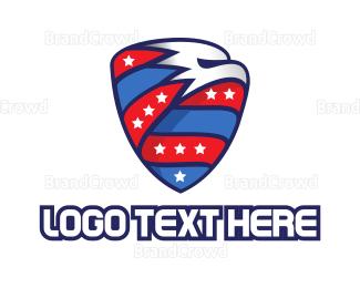 America - Eagle Sport Shield  logo design