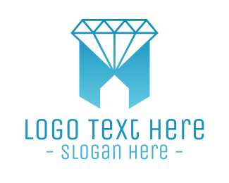 Jewelry Shop - Geometric Jewelry House logo design