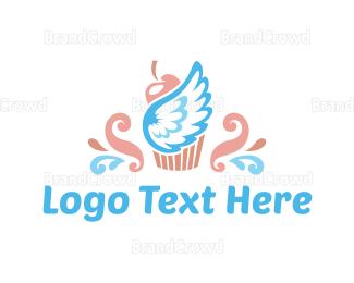 Cupcake - Heaven Cupcake logo design