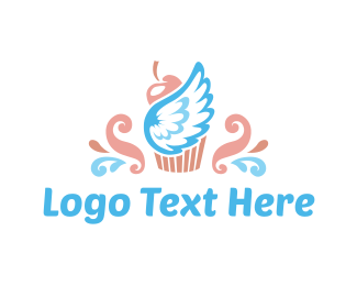 Angel - Heaven Cupcake logo design