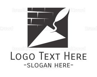 Brick - Construction Trowel logo design