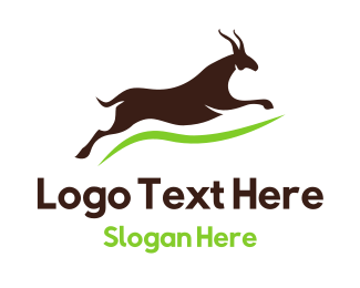 Hiking - Brown Gazelle logo design