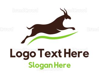 Conservation - Brown Gazelle logo design