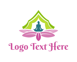 Relax - Yoga Flower logo design