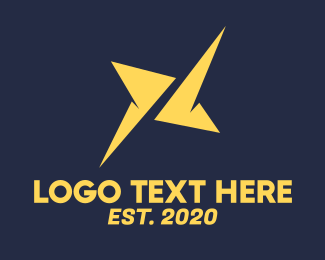 Spark - Yellow Digital Spark logo design
