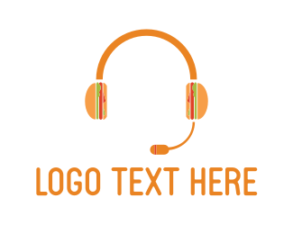 Call Center - Burger Headset logo design