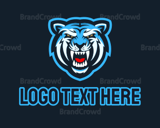 Wildlife - Blue Tiger logo design