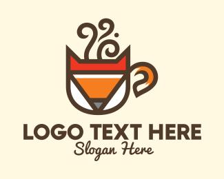Mocha - Fox Coffee Cafe logo design