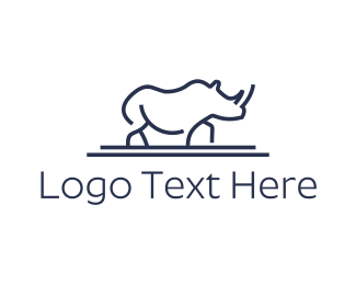 Fauna - Blue Rhino logo design