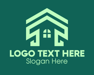 Real Estate - Green Real Estate Home logo design