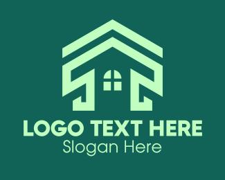 Green Real Estate Home Logo