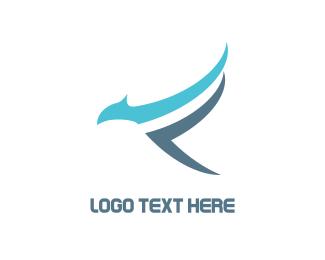 Hawk - Blue Falcon logo design