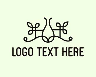 Vase - Floral Vase logo design