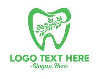 Green Tooth - Green Dental Dentist logo design