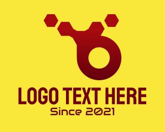 Abstract Tech Letter B Logo