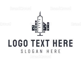 Injection - Syringe City logo design