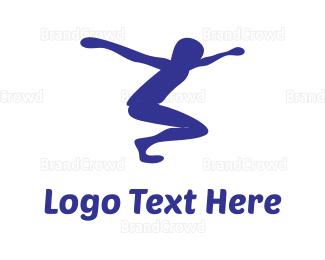 Jump - Jumping Boy logo design