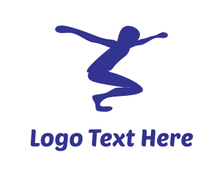 Hop - Jumping Boy logo design