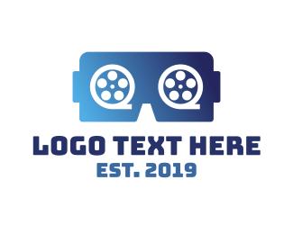 Vr - VR Movies  logo design