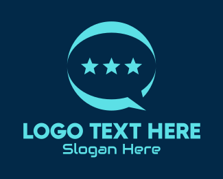 Message Bubble - Star Messaging App  logo design