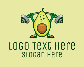 Exercise - Healthy Avocado Exercise Mascot logo design