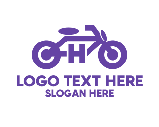 Autoparts - Motorbike Letter H logo design