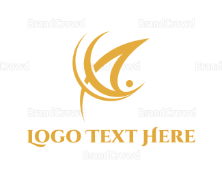 Man - Golden Man logo design