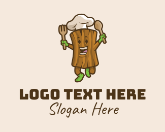 Mascot - Tree Chef Restaurant logo design