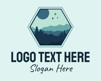 Tourism Agency - Outdoor Mountain Badge  logo design
