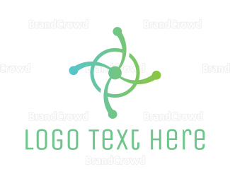 Rotation - Propeller Tech Circle logo design
