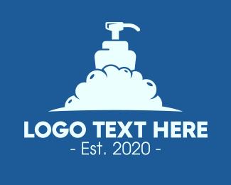 Lotion - Foamy Liquid Soap logo design
