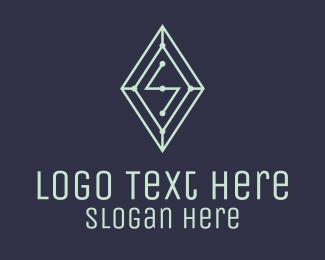 S - Diamond Gem Letter S logo design
