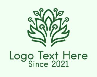 Bush - Green Bush Plant logo design