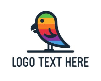 Lgbt - Rainbow Parrot logo design