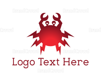 Electrical Energy - Electric Crab logo design