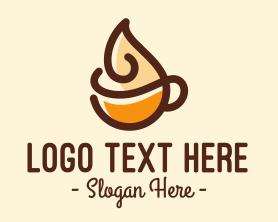 Coffee - Whipped Cream Coffee logo design