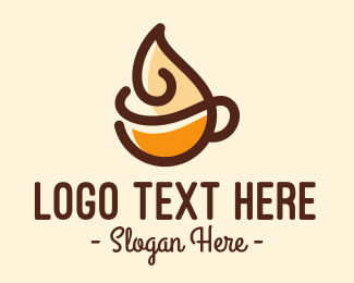 Coffee Cup - Whipped Cream Coffee logo design